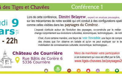 """Conférence """"paysages"""" – jeudi 9 mars"""