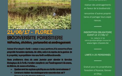 Formation Forêts : Biodiversité ; 21 juin 2017