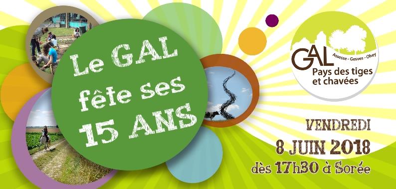 Le GAL fête ses 15 ans, avec vous !