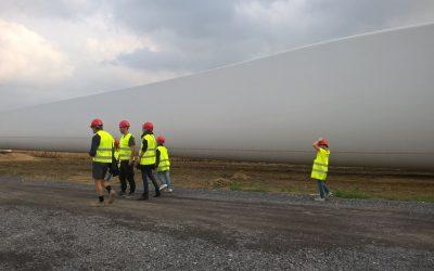 Les géantes du Samson – visites du chantier éolien