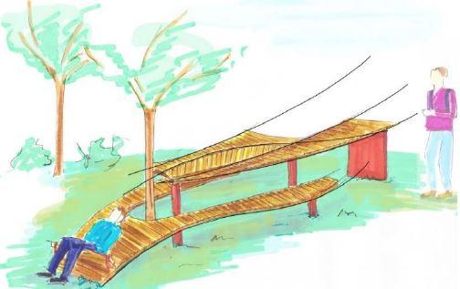 14 aires de pique-nique familiales, en bois local